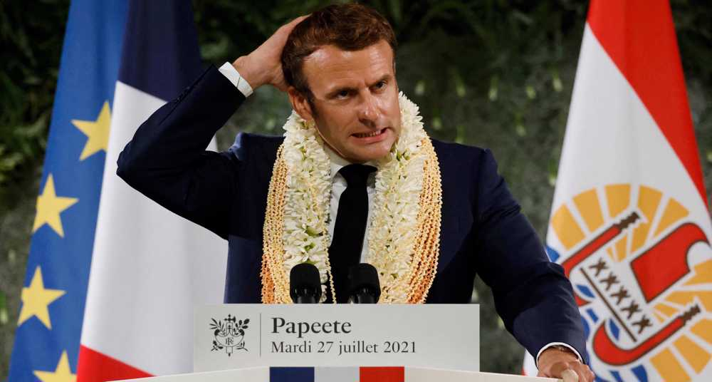 Macron fails to apologize to French Polynesia over nuclear tests
