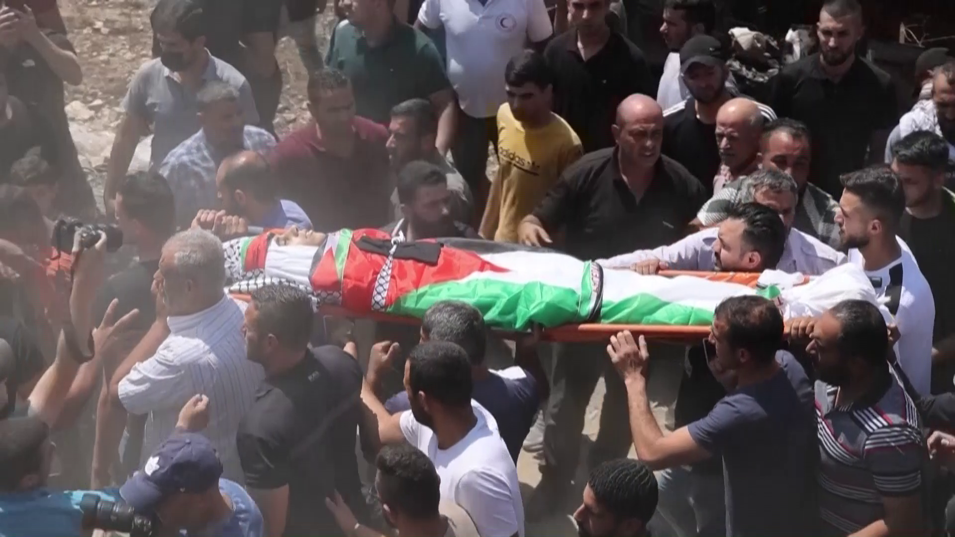 Palestinians bury man shot by Israeli soldiers in West Bank