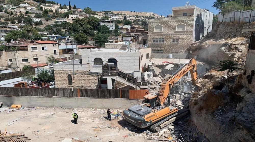 Israel demolishes Palestinian home in Silwan neighborhood of al-Quds