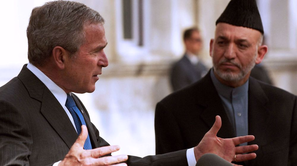 Bush voices 'deep sadness' over Afghanistan events