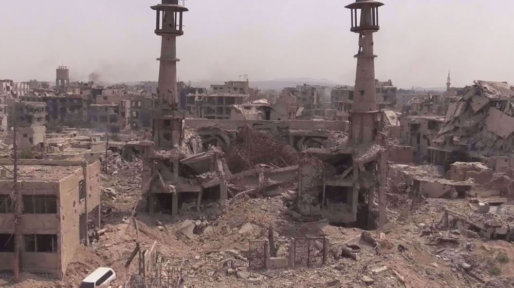 Takfiri terrorists turned holy sites in Syria into rubble