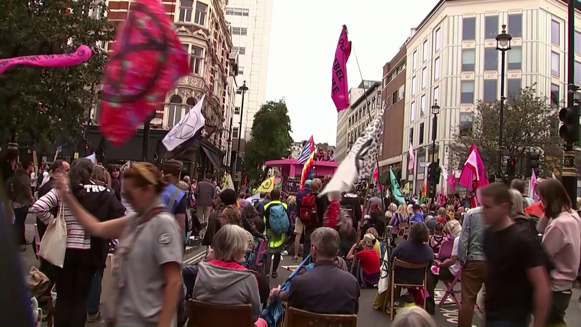 Climate activists block streets in central London