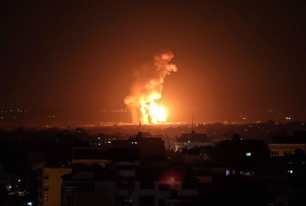 Hamas initiates air defense fire after intense, diverse Israeli attacks