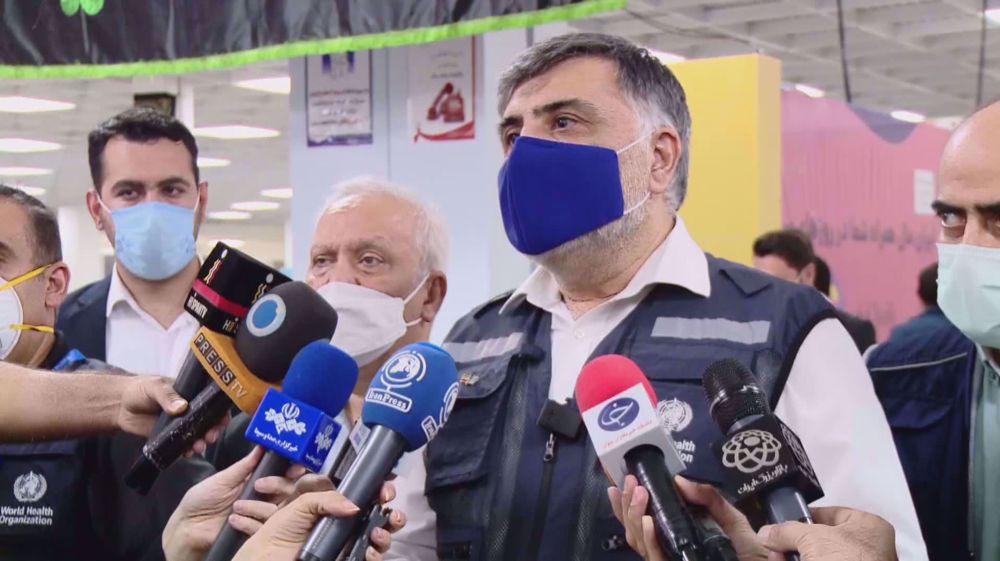 WHO representative in Iran visits vaccination center