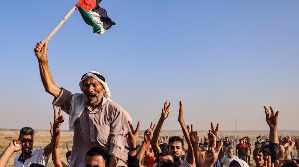 Over dozen Palestinians injured as Israel attacks protest on Gaza border fence