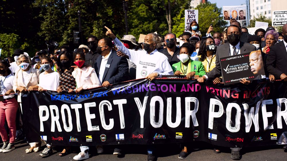 Thousands march in Washington, US cities for voting rights