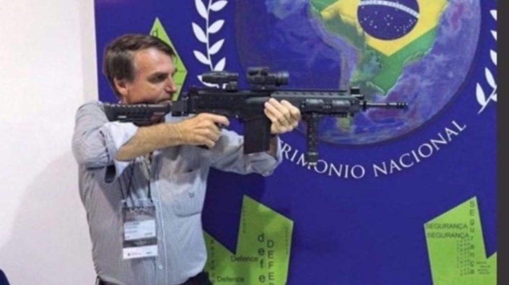 Brazil's Bolsonaro urges 'everyone' to buy guns
