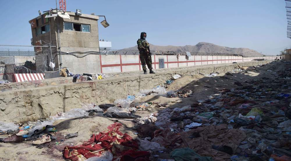 Rocket attack hits near Kabul airport, US says carried out drone strike