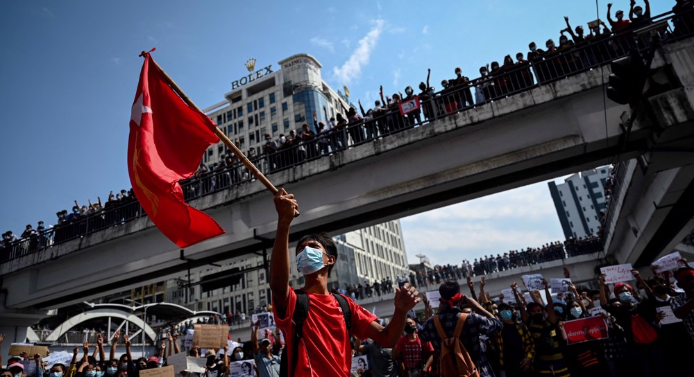 Myanmar protesters mark anniversary of 1988 uprising