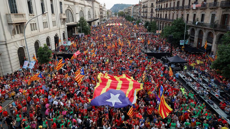 Catalonia's separatists back on streets ahead of Madrid talks