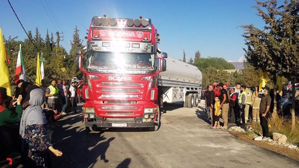 Convoy of tankers carrying Iranian fuel arrives in Lebanon