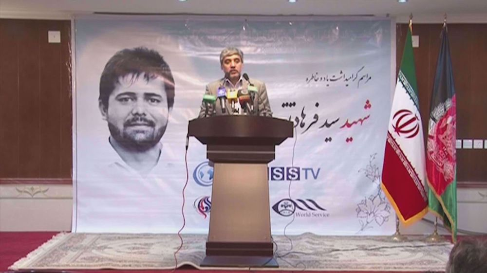 Press TV team vow to continue path of colleague martyred in Afghanistan