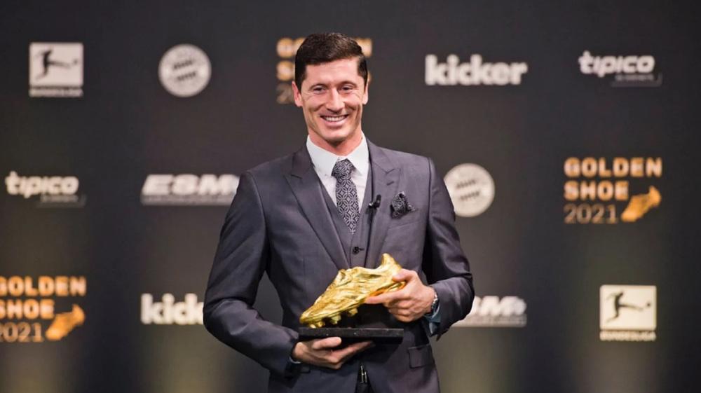 Lewandowski wins Golden Shoe 2021