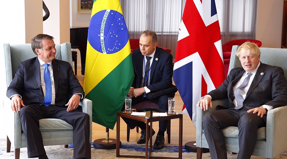 Brazil's Bolsonaro: UK PM has asked for 'emergency' food deal