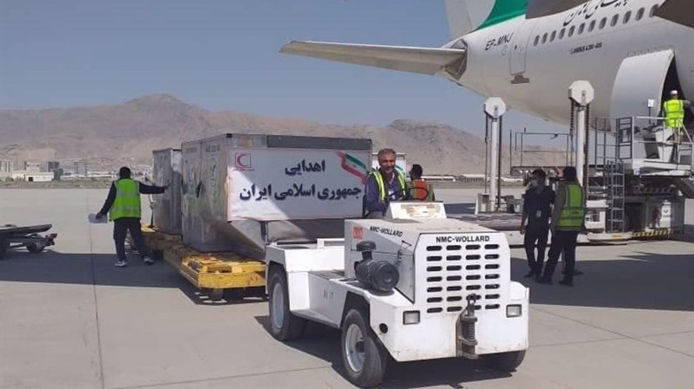 Second batch of Iran's humanitarian aid arrives in Kabul