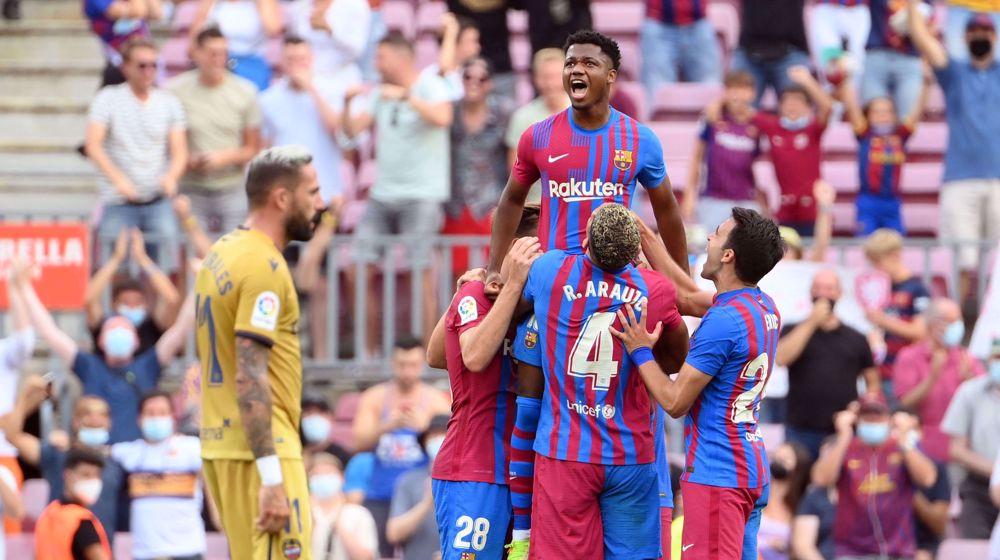 Spanish La Liga: Barcelona 3-1 Levante