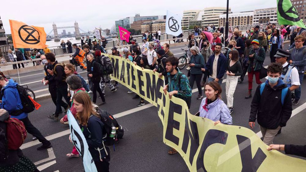 'Arrests are being made': Climate protesters block London's M25