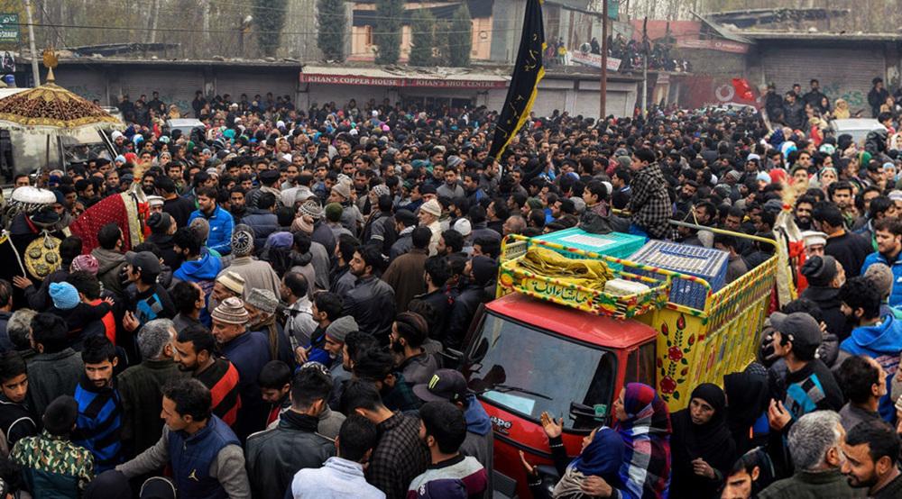 People in Kashmir observe Arbaeen