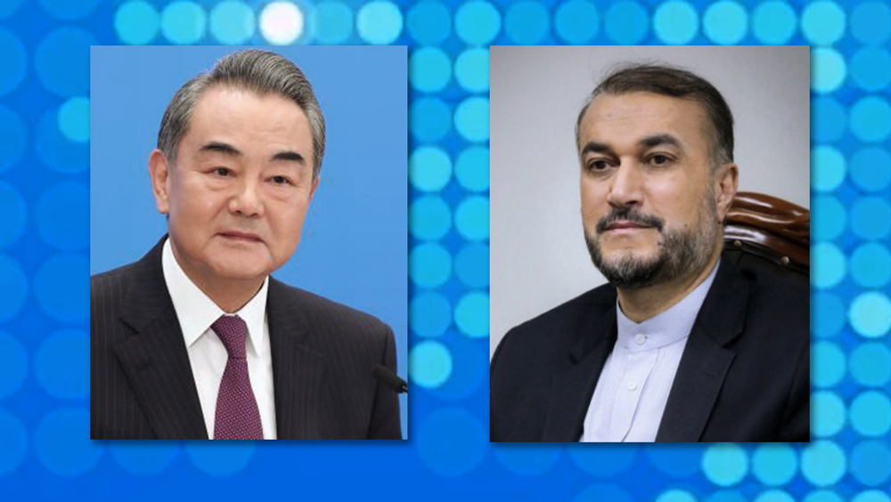 In call with Chinese FM, Amir-Abdollahian says Iran categorically opposed to foreign powers' meddling in others' affairs