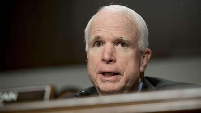 'McCain, part of US oligarchy thriving on war'