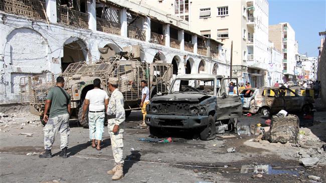 Bombing kills 6 pro-Saudi militiamen in Yemen