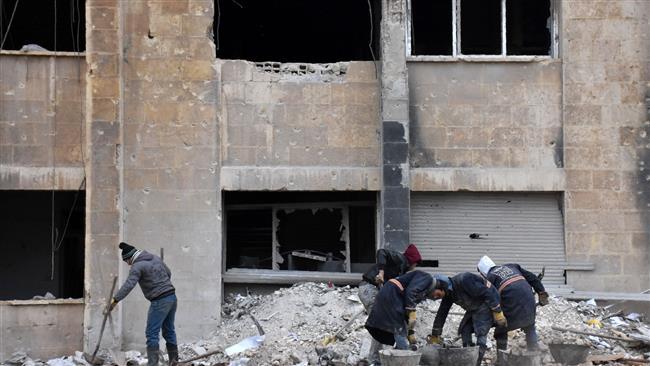 Syria begins rebuilding of eastern Aleppo