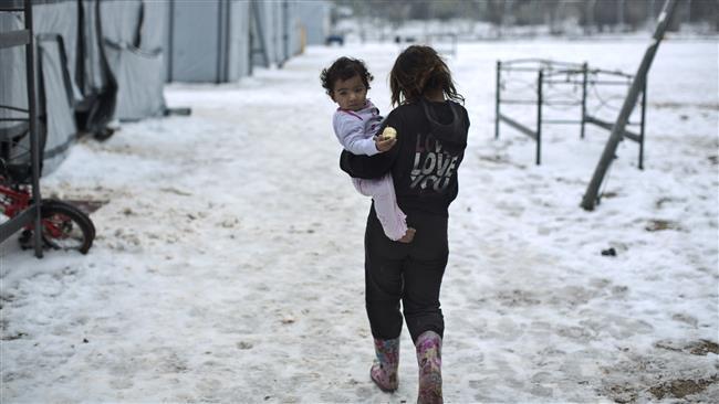 '23k child refugees risk death in Europe cold snap'