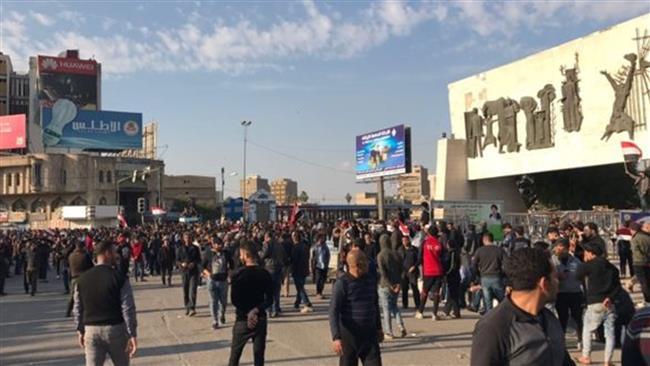 Sadr supporters hold fresh demo in Baghdad