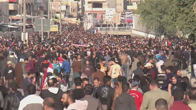 Sadr supporters rally in central Baghdad