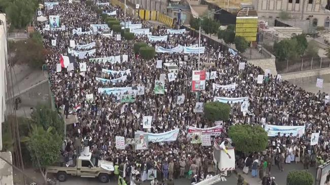 Yemeni demonstrators slam Saudi raid on funeral