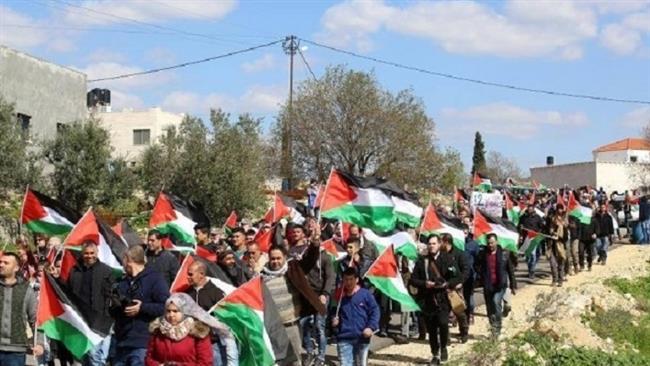 Palestinians protest Israel land grab, WB wall