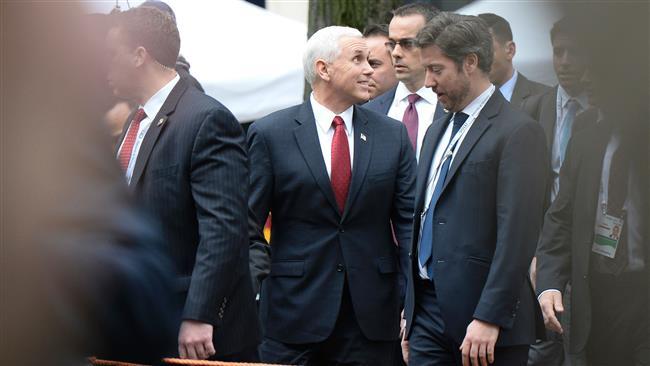Pence accuses Iran of 'destabilizing' ME