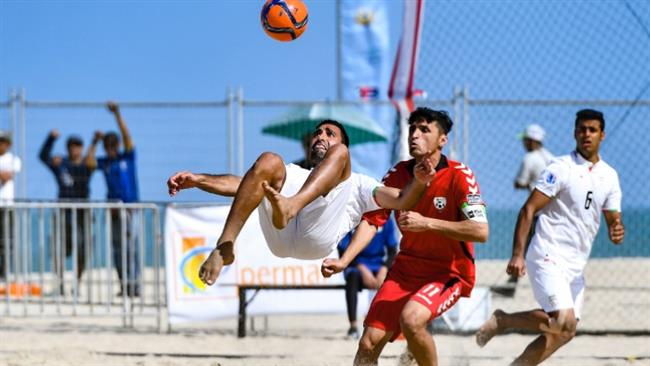 Iran gets 2nd straight win in AFC beach soccer cup