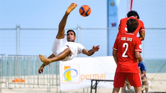 Iran blanks China in AFC beach soccer tournament