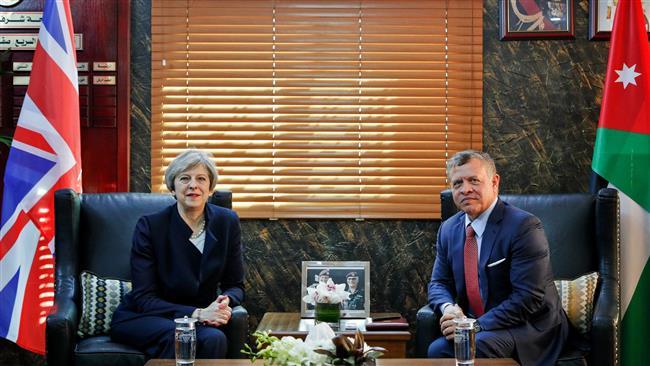 May, Jordan's king discuss terrorism, ties