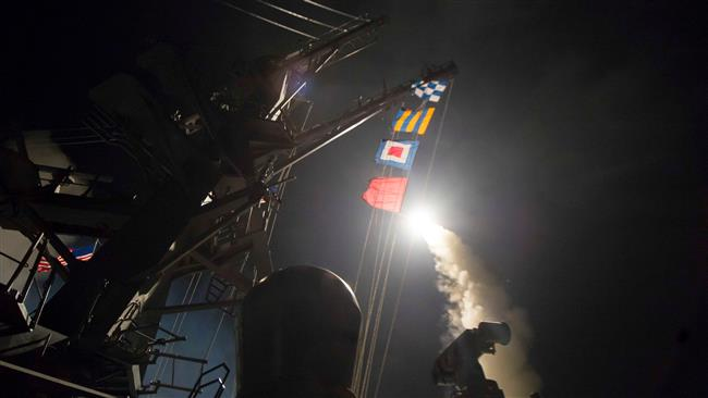 US launches missile strike against Syria