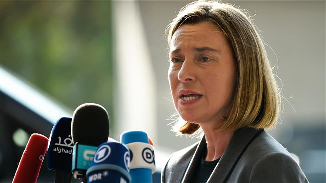 EU rejects any military solution to Syria conflict