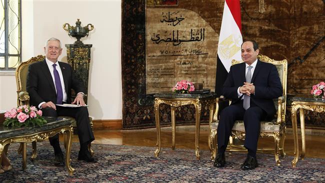 Mattis seeks stronger US military ties with Egypt