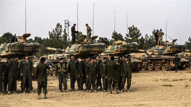 Turkey moves military vehicles to Syria border