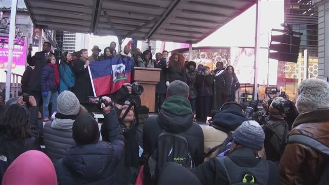 Demonstrations against racism coincide with MLK Day in NYC