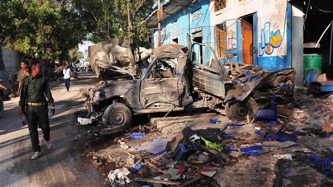 Al-Shabab twin bomb attacks kill 45 in Somali capital Mogadishu