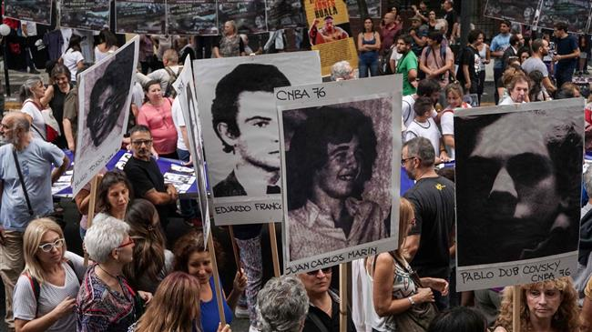 Argentina: Protests held on 42nd anniv. of military coup