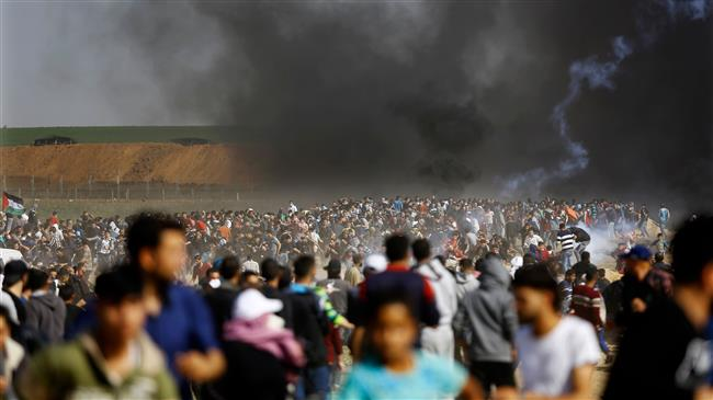 Palestinians slam Israel's violence against protesters