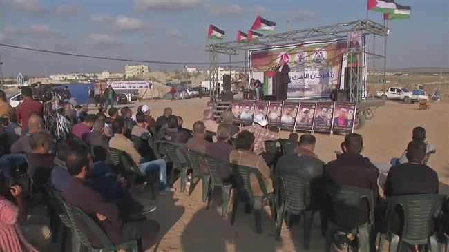 Gazans express solidarity with Palestinian prisoners