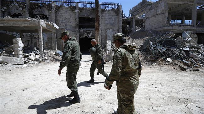 Russia military finds chemical weapons lab Syria's Douma