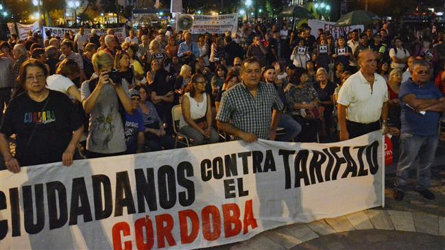 Argentineans protest utility rate hikes