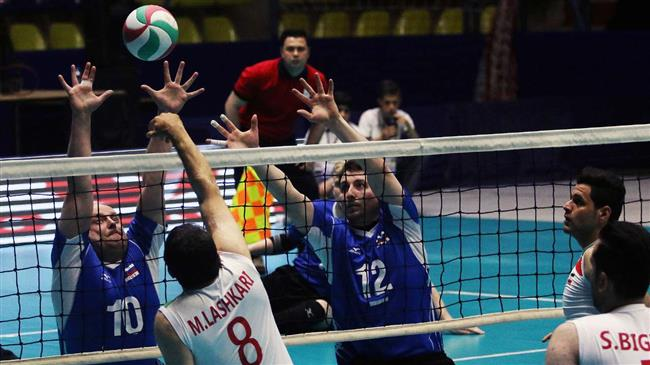 Iran routs Russia in intl. sitting volleyball tourney
