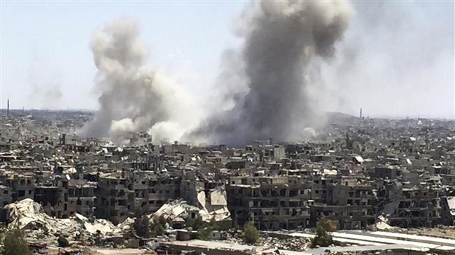 Syrian forces advance against militants in Damascus area