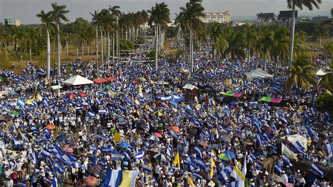Thousands march for peace in Nicaragua
