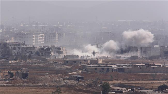 Syrian jets hit militant hideouts near Damascus